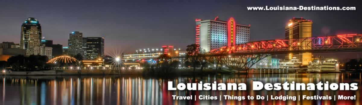 Shreveport Louisiana travel tourism hotels attractions state – Louisiana Tourist Attractions Map