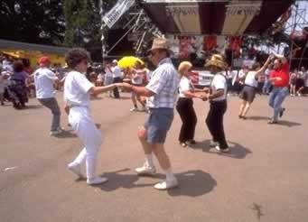 Dancing the day away ... at the Breaux Bridge Crawfish Festival