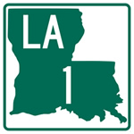 Louisiana Highway 1 extends from Shreveport to Grand Isle, a distance of 436 miles