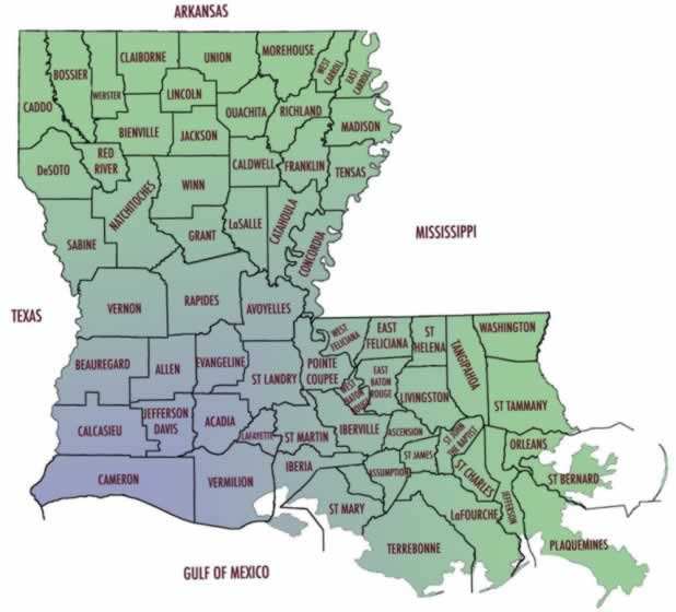 New Iberia Louisiana Map.Louisiana Maps Map Of Louisiana Parishes Interactive Map Of Louisiana
