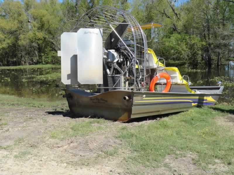 Airboat used in a Louisiana swamp tour