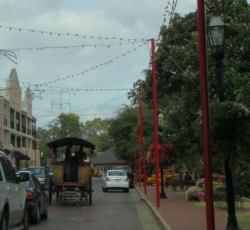 Street scene in downtown Natchitoches, Louisiana