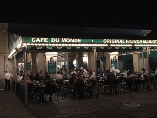 Cafe du Monde at the French Market in New Orleans