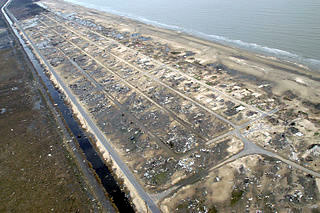 Holly Beach, Louisiana, devastation from Hurricane Rita