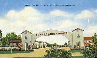 Evangeline Courts, U.S. Highway 90 East, in Lafayette, Louisiana
