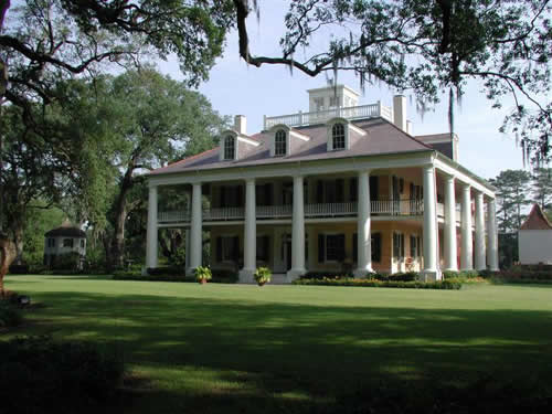 Louisiana historic plantation homes locations photos for Home plans louisiana