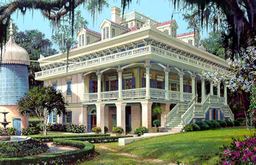 San Francisco Plantation along the Mississippi River in Louisiana