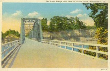 Red River Bridge and View at Grand Ecore, Louisiana