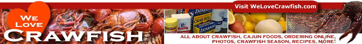WeLoveCrawfish.com ... photos, crawfish season, Cajun foods, ordering and much more! ... click to visit now